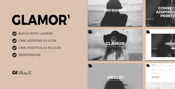 Glamor – Creative Portfolio WordPress Theme