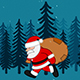 Santa Claus walking With Gift - VideoHive Item for Sale