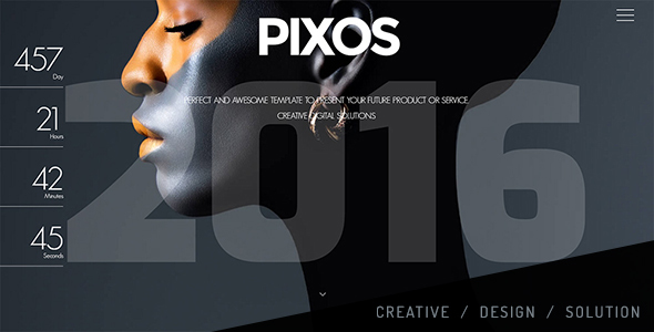 Pixos – Responsive Coming Soon