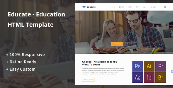 Educate - Education HTML Template - Corporate Site Templates