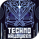 Techno Halloween Flyer Template - GraphicRiver Item for Sale