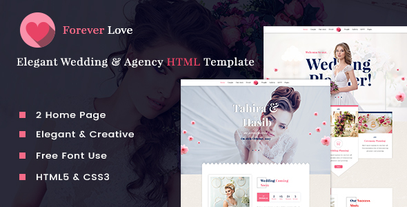 Wedding Forever Love - Wedding & Agency HTML Template - Wedding Site Templates