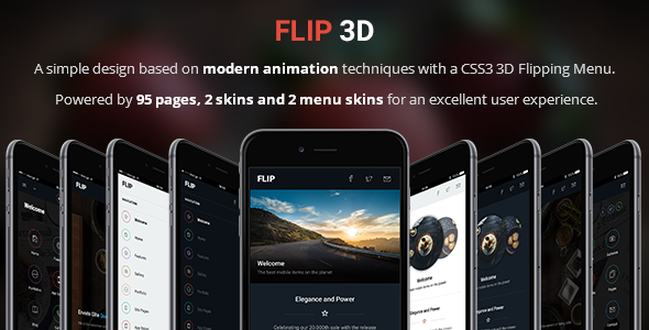 Flip 3D | Mobile & Tablet Responsive Template