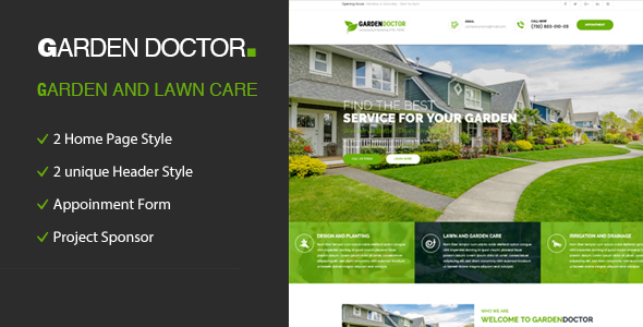 Garden Doctor – Gardening and Landscaping HTML Template