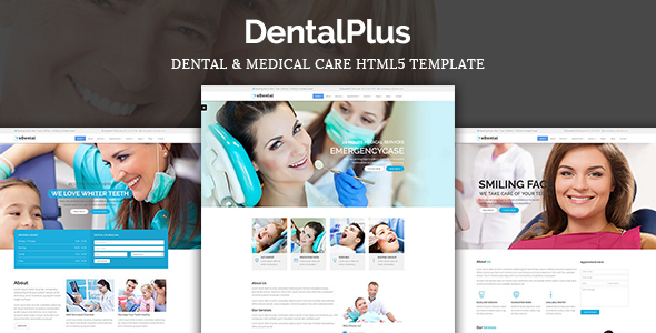 DentalPlus – Dental Care HTML5 Template