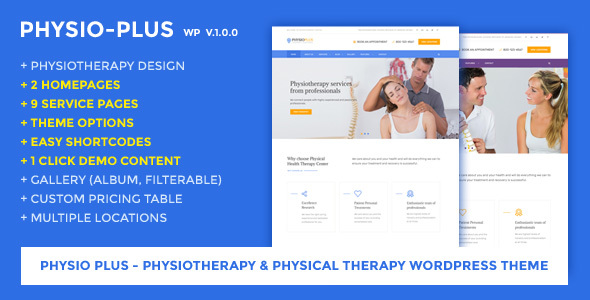 Physio Plus – Physiotherapy & Physical Therapy WordPress Theme