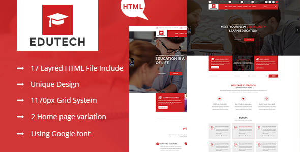 EDUTECH – Education, Course, Event & University Template