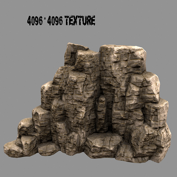 rock mount 1 - 3DOcean Item for Sale
