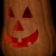 Halloween Pumpkin On Dark Background - VideoHive Item for Sale