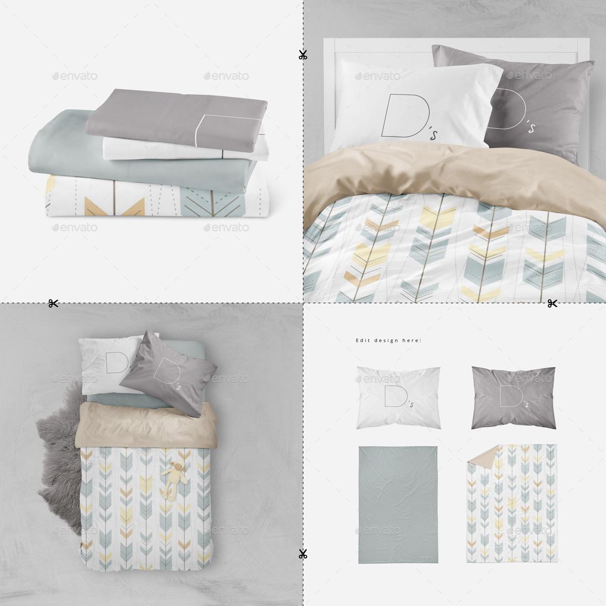 Bedding Multiboard Mockup By Dennysmockups Graphicriver