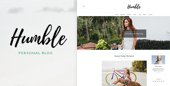 Humble – Personal Blog PSD Template