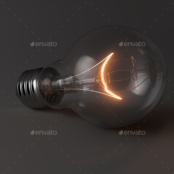 Light bulb with glow - Objects 3D Renders