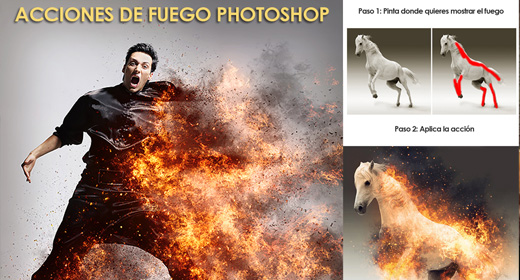 Acciones de fuego Photoshop