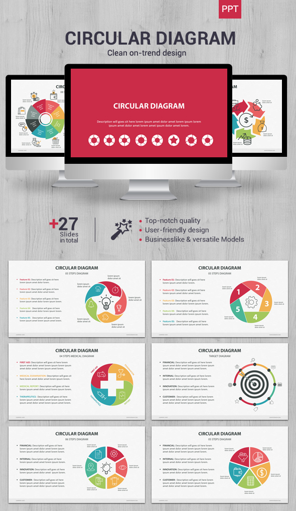 Circular diagram powerpoint by creapack graphicriver circular diagram powerpoint business powerpoint templates ccuart Images