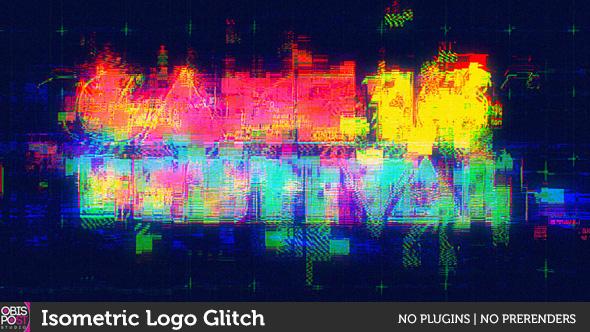 Isometric Logo Glitch By Obispost
