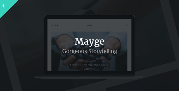 Mayge - A Theme for Gorgeous Storytelling - Blog / Magazine WordPress