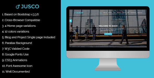 Jusco - Creative Bussiness Template - Portfolio Creative