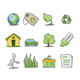 Green Icons Fresh Collection - Set 5 - GraphicRiver Item for Sale