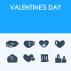 Valentine's Day icons - GraphicRiver Item for Sale