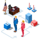 Election Infographic US Presidents Vector Isometric People - GraphicRiver Item for Sale