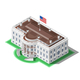 Election Infographic US White House Vector Isometric Building - GraphicRiver Item for Sale
