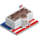 Election Infographic USA White House Vector Isometric Building - GraphicRiver Item for Sale