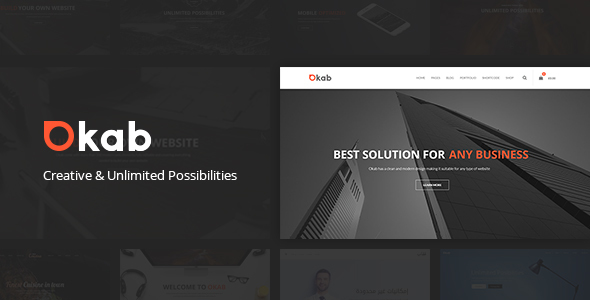 Okab – Responsive Multi-Purpose WordPress Theme