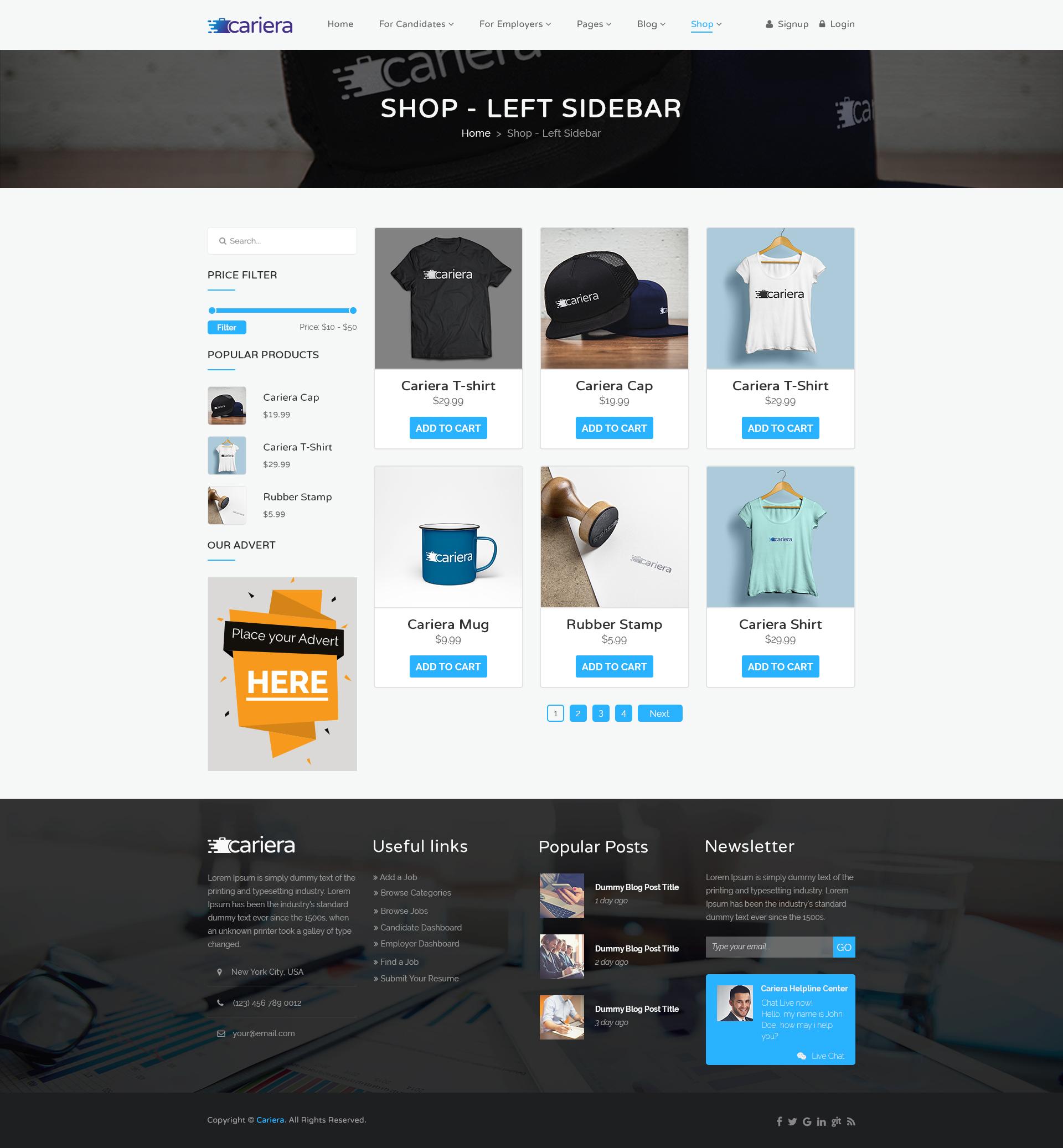 cariera - job board html template free download  Cariera Job Board PSD Template by gnodesign | ThemeForest