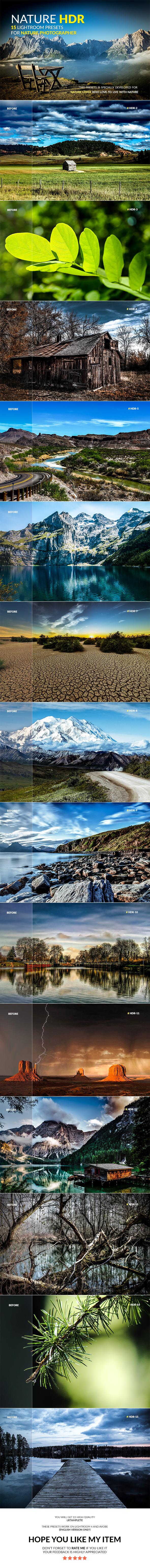 Nature HDR Lightroom Presets - HDR Lightroom Presets