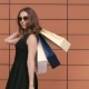 Portrait Of Shopping Woman Turning Around With Shopping Bags. - VideoHive Item for Sale