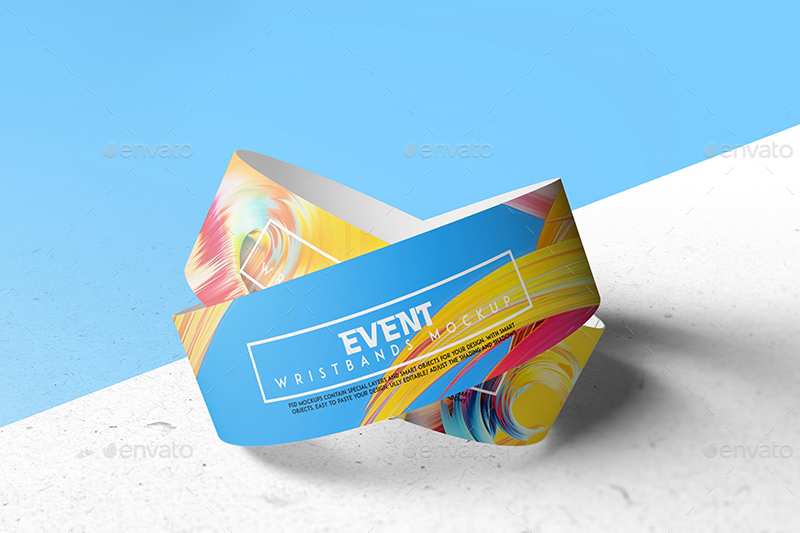 image about Printable Wristbands for Events named Occasion Wristbands Mockup V2
