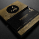 Gold And Black Business Card 5 - GraphicRiver Item for Sale