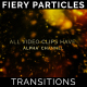 Title Text Fiery Particles Transitions 7 Pack - VideoHive Item for Sale