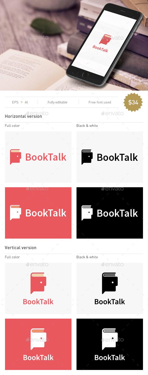 Book Talk - Objects Logo Templates