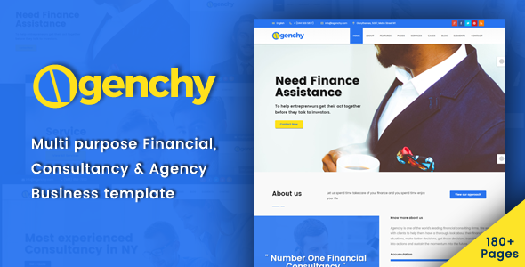 Agenchy - Modern Multipurpose HTML5 Template - Business Corporate