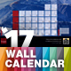 Wall Calendar 2017 with Full Size Photo Background — A3 and Tabloid - GraphicRiver Item for Sale