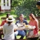 Friends Having Barbecue Party At Summer Garden - VideoHive Item for Sale