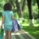 Brunette Walking Along The Park. - VideoHive Item for Sale