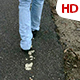 Following A Man Walking 0480 - VideoHive Item for Sale