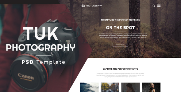 TUK - Photography PSD Template - Photography Creative