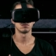 Man Put On VR-headset And Getting Experience In Using VR-headset. - VideoHive Item for Sale