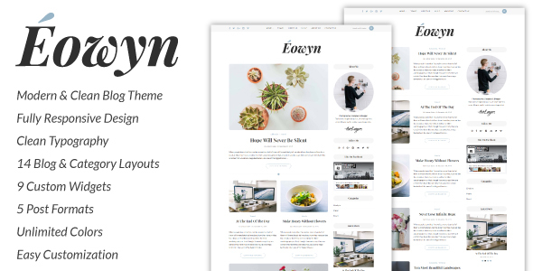 Eowyn – A Minimal Responsive WordPress Blog Theme