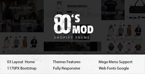 80's Mod Responsive Ecommerce Shopify Theme