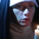 Woman Nun Praying At Night. Burning Candles. Woman In Clothes Nuns - VideoHive Item for Sale