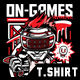 On-Games T-Shirt Design-Graphicriver中文最全的素材分享平台