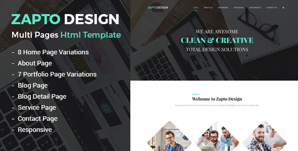 Zapto – Multi-Purpose Responsive HTML Template