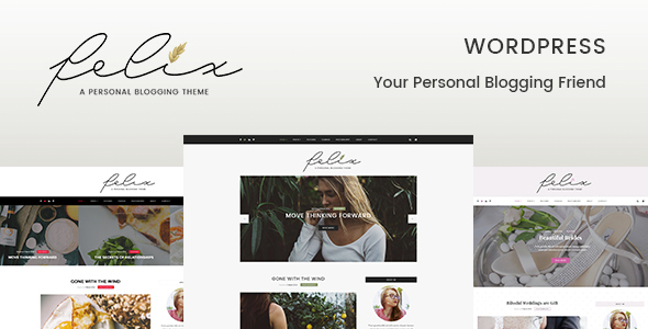 Felix – Personal Blogging WordPress Template