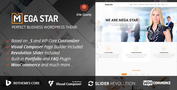 Megastar - Business WordPress Theme - Business Corporate