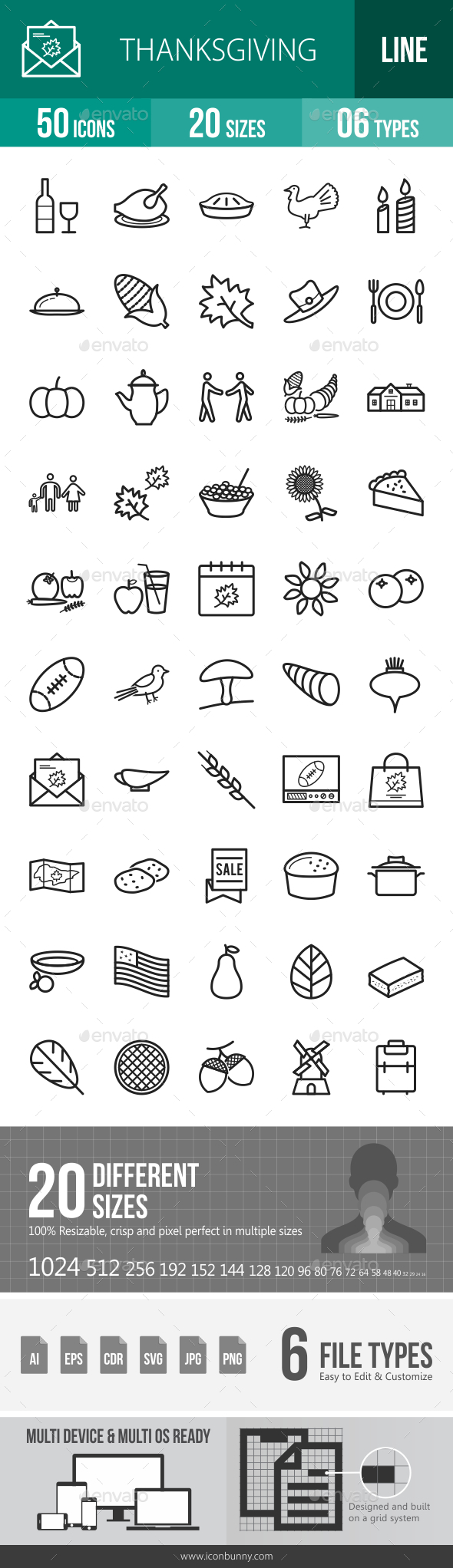 Thanksgiving Line Icons - Icons