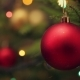 Decoration Bauble On Decorated Christmas Tree - VideoHive Item for Sale